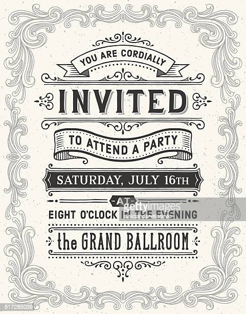Vintage Hand Drawn Invitation