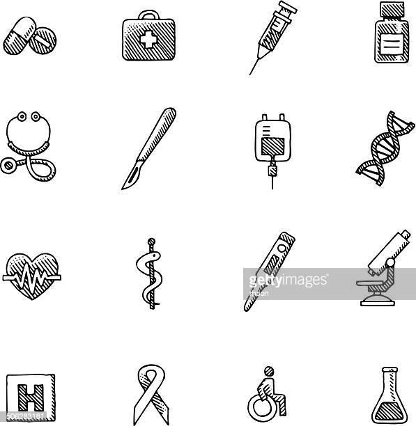 Vintage Healthcare and Medicine icons