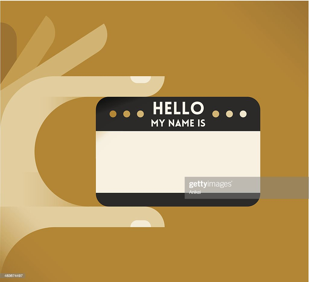 Vintage 'Hello, my name is' card
