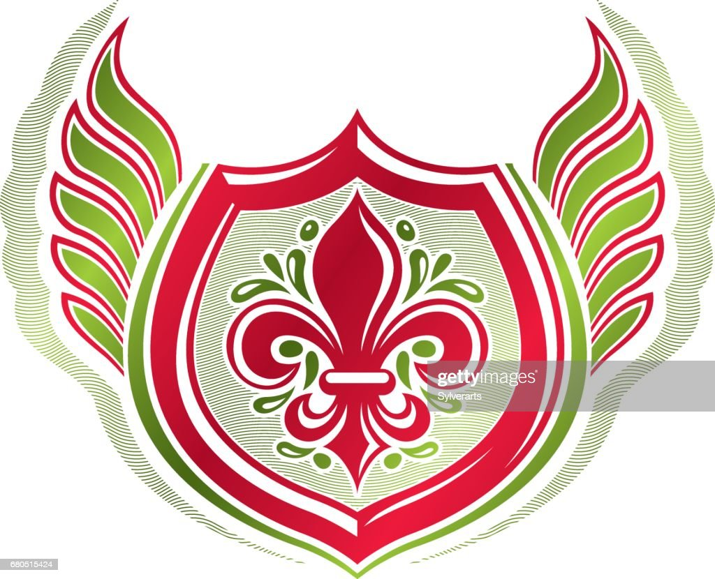 Vintage heraldic emblem created with lily flower royal symbol best vintage heraldic emblem created with lily flower royal symbol best quality product symbol nature izmirmasajfo