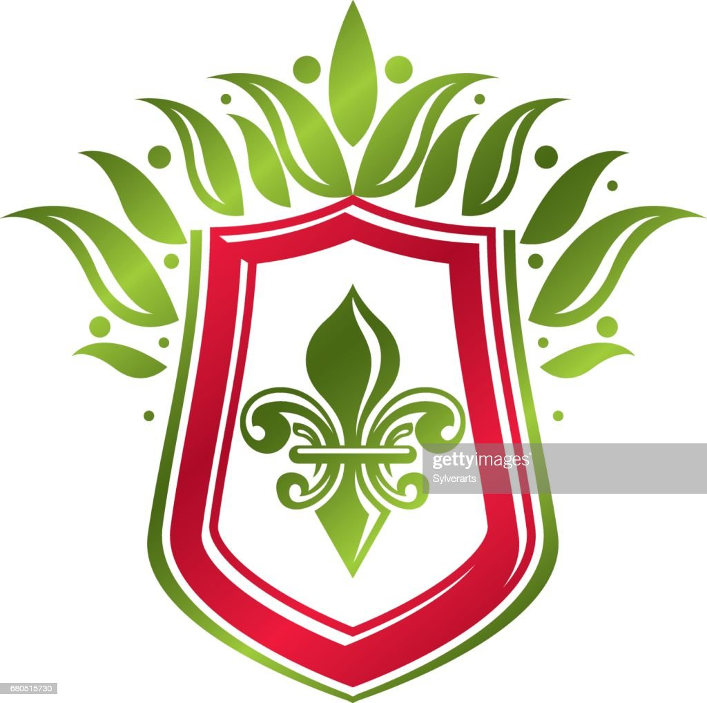 Vintage heraldic emblem created with lily flower royal symbol eco vintage heraldic emblem created with lily flower royal symbol eco product symbol organic and izmirmasajfo