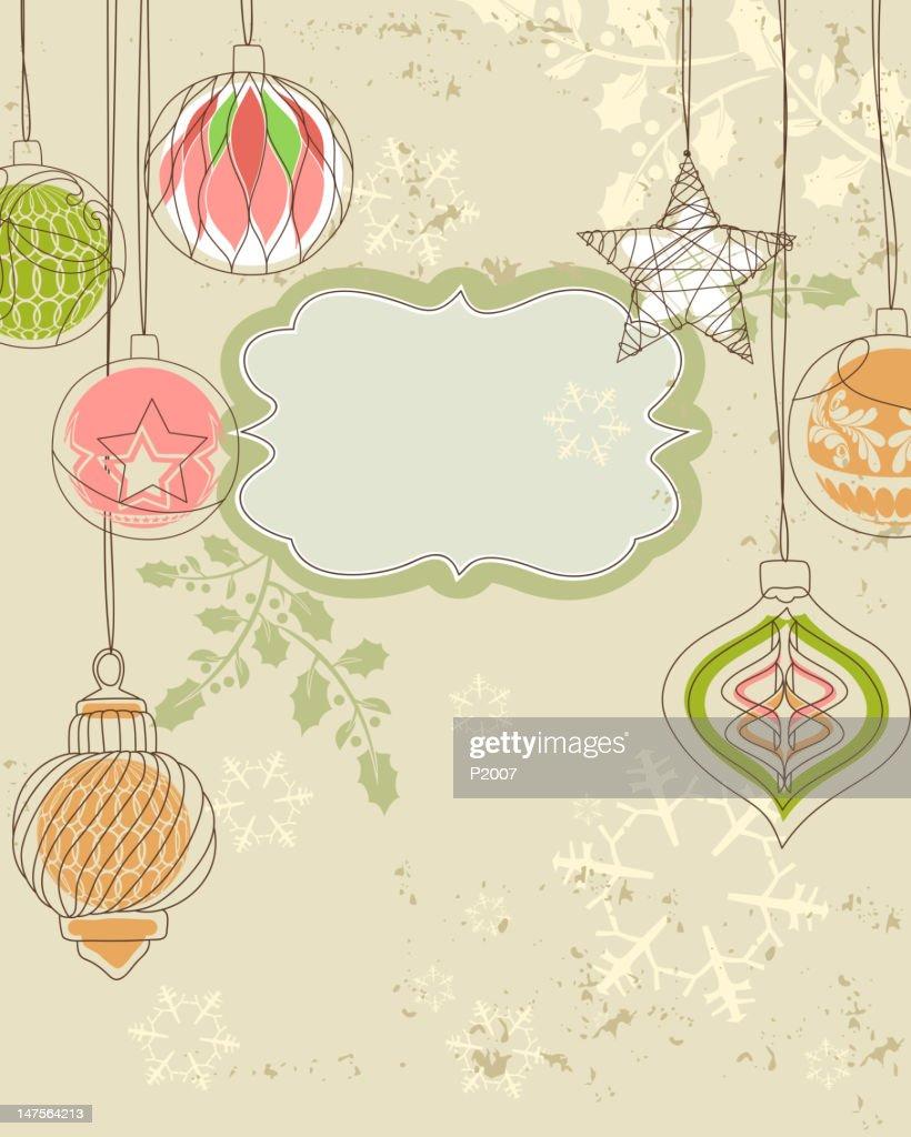 Vintage Holiday Background : Vector Art