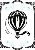 Vintage hot air balloon design