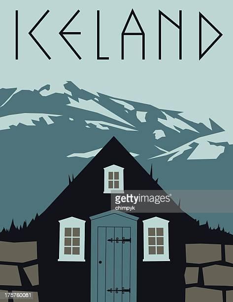 Vintage Iceland Travel Poster
