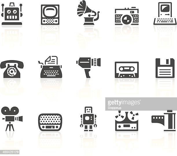 vintage icons - gramophone stock illustrations, clip art, cartoons, & icons
