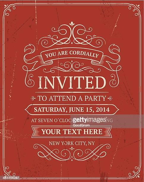 Vintage Einladung