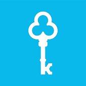 Vintage Key Vector Company, Vector letter K