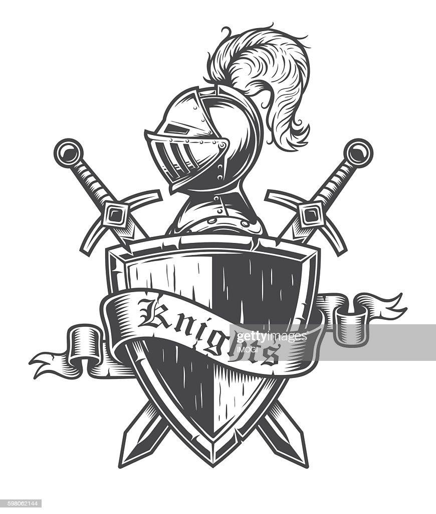 Vintage knight emblem