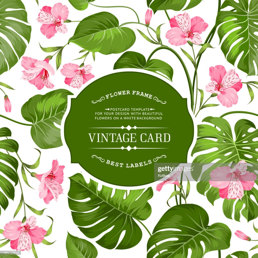 Vintage label card