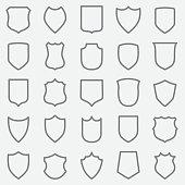 Vintage Label Outline Icons