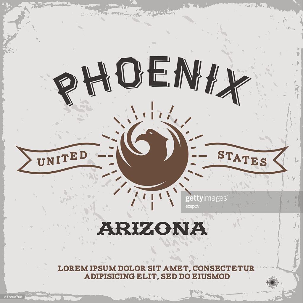 vintage label Phoenix