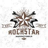 vintage label rockstar