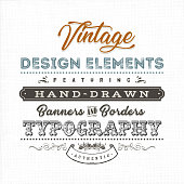 Vintage Label Sign On Fabric Texture