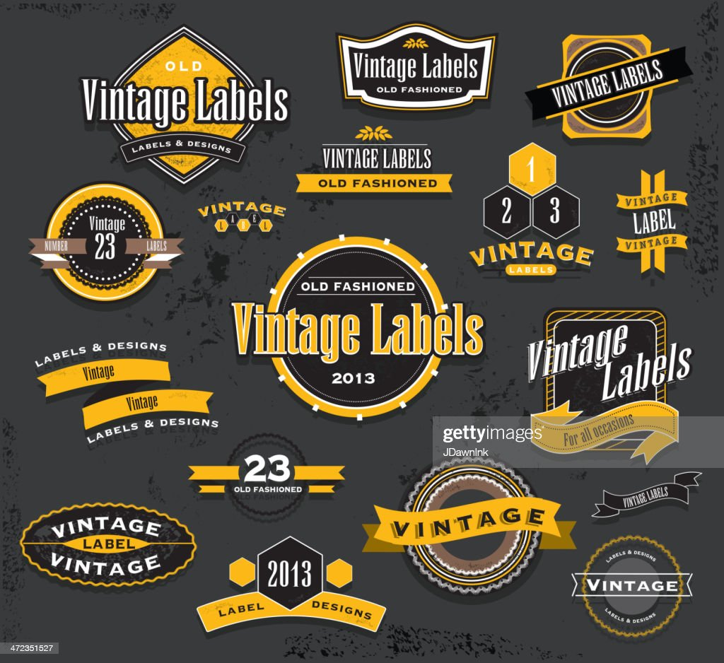Vintage Label Template Set Vector Art Getty Images