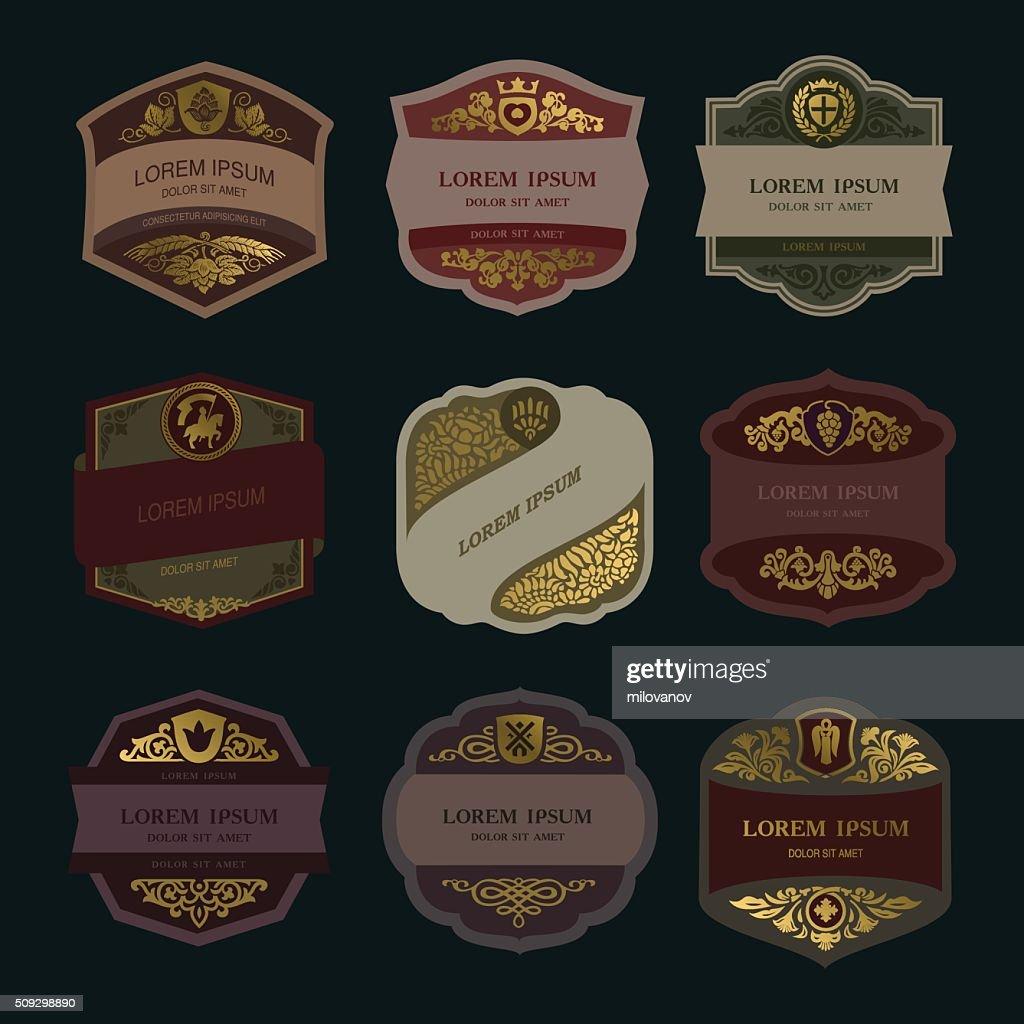 vintage label, wine label, beer label