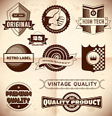 Vintage labels. Collection 23