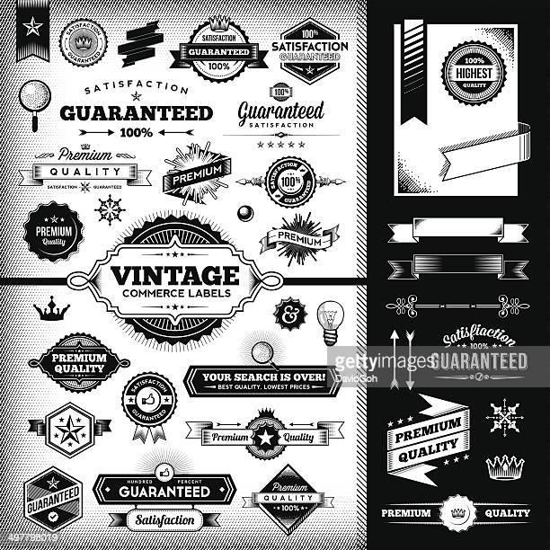 Etiquetas Vintage conjunto de herramientas