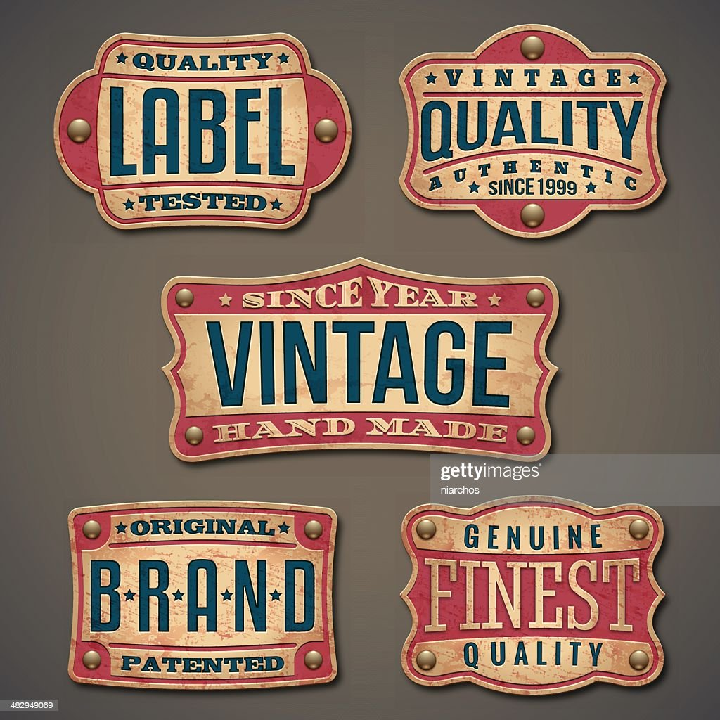 Vintage Label : Stock-Illustration