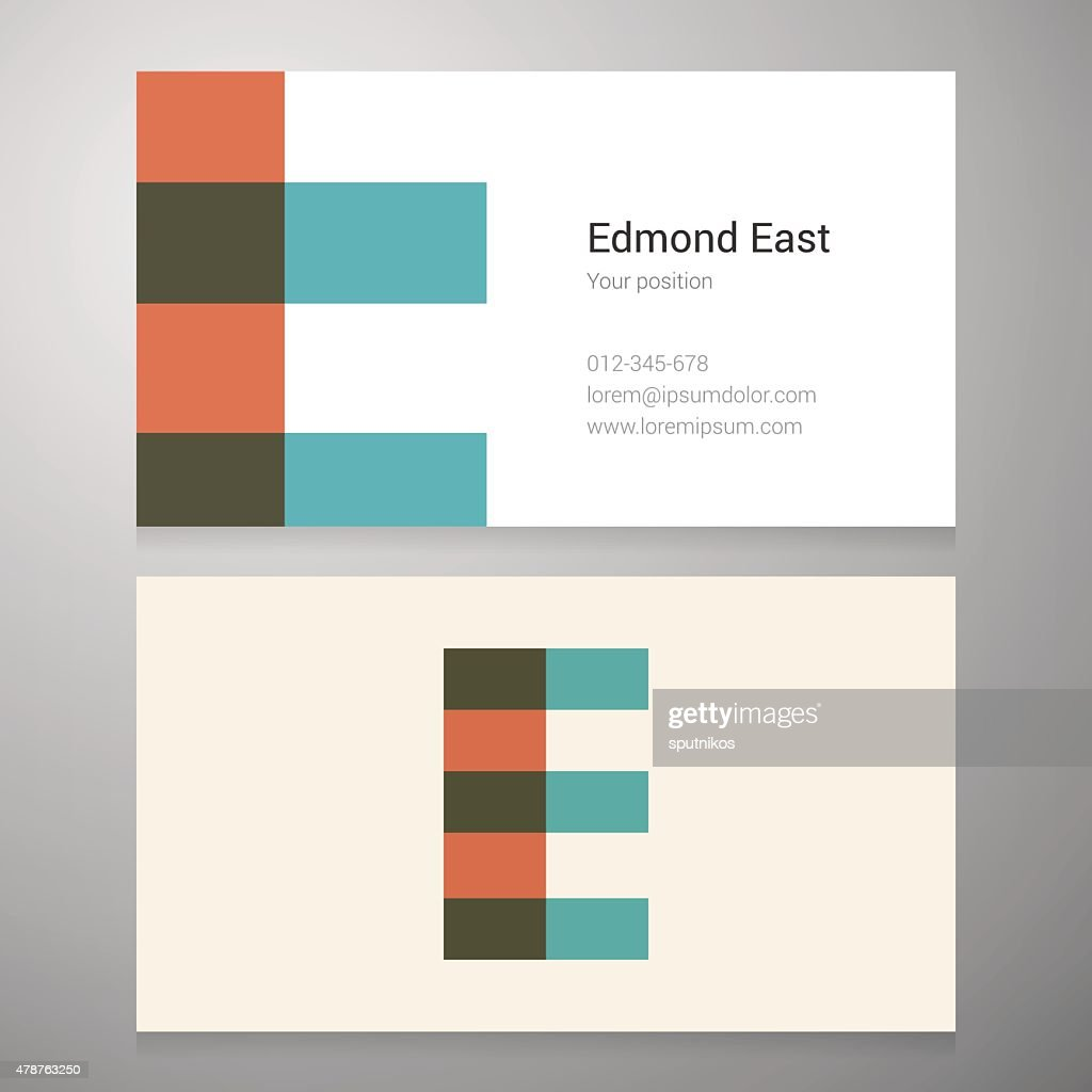 Vintage Letter E Icon Business Card Template stock vector - Getty Images