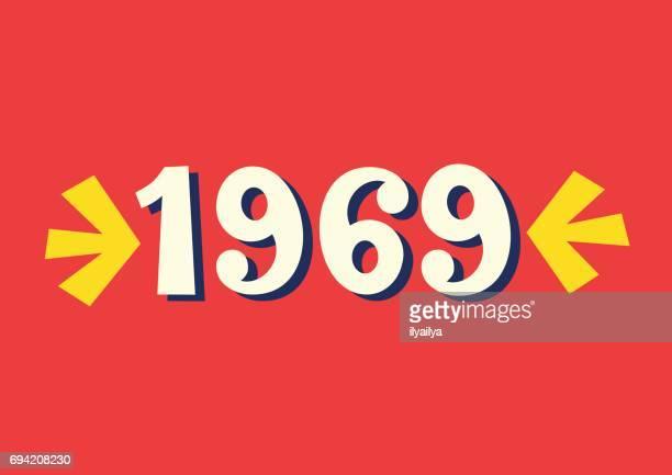 1969 ヴィンテージ レタリング - 1969年点のイラスト素材/クリップアート素材/マンガ素材/アイコン素材
