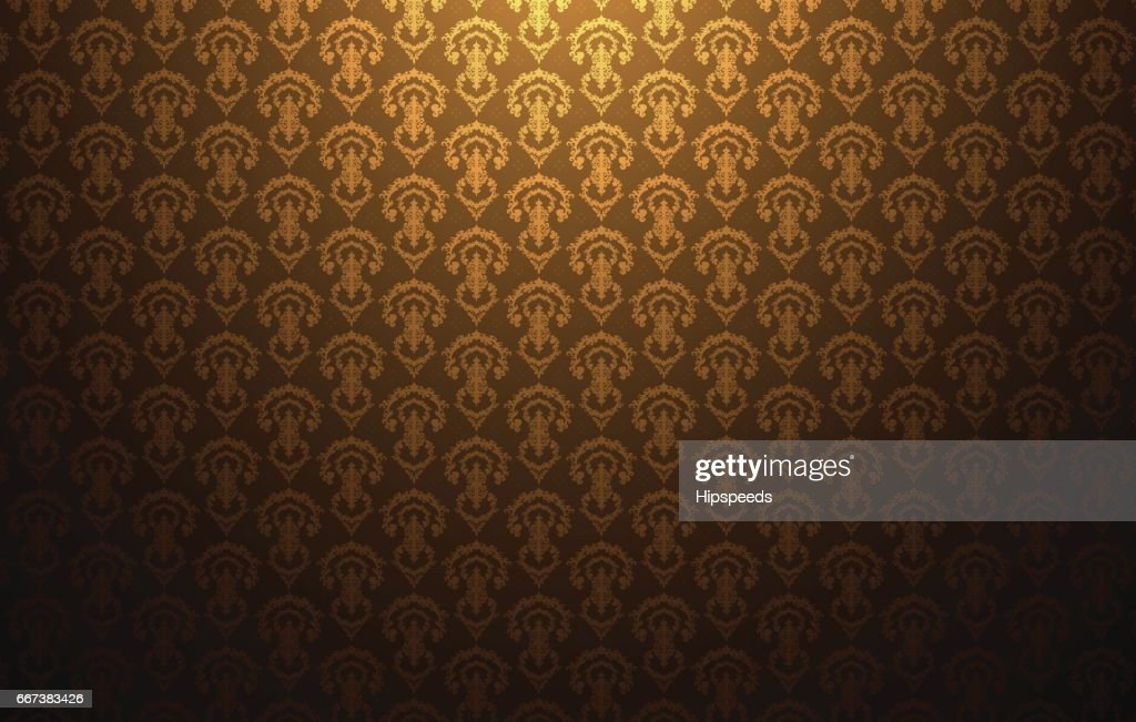 Vintage light pattern gold background