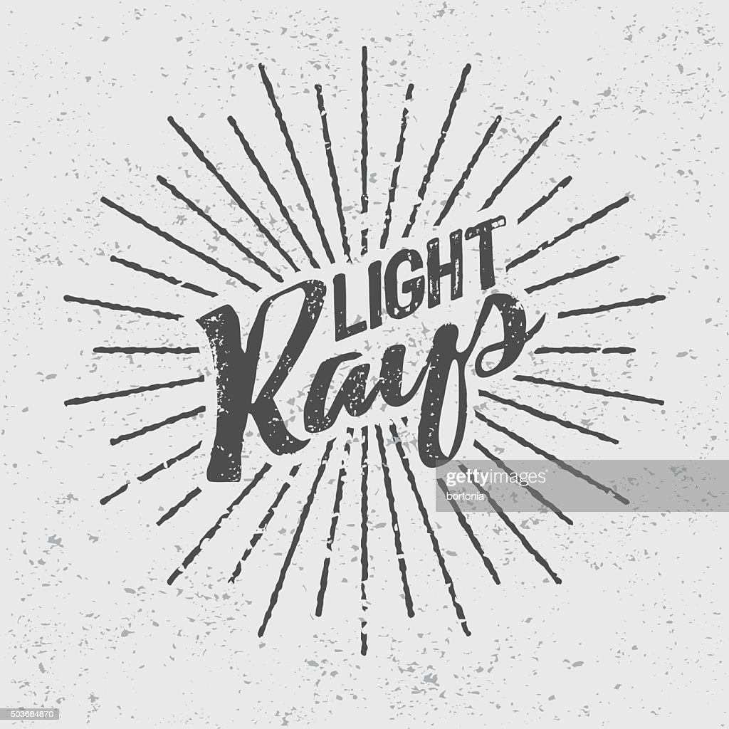 Vintage Light Rays Icon Template