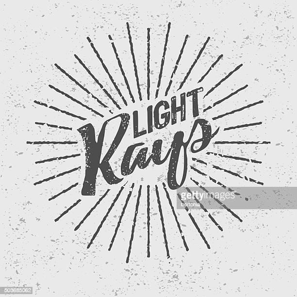 Vintage Light Rays Icon Template