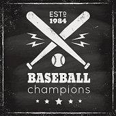 Vintage logo for basebal