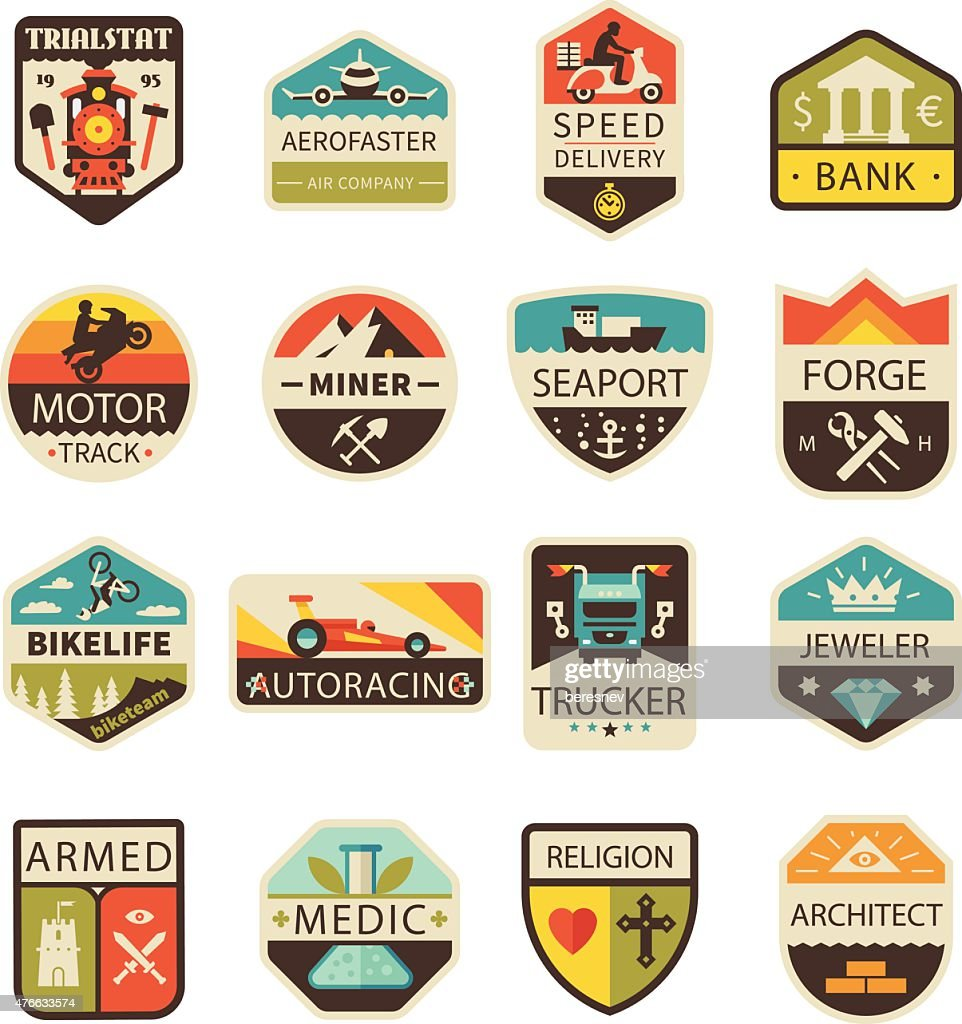 Vintage logos and badges