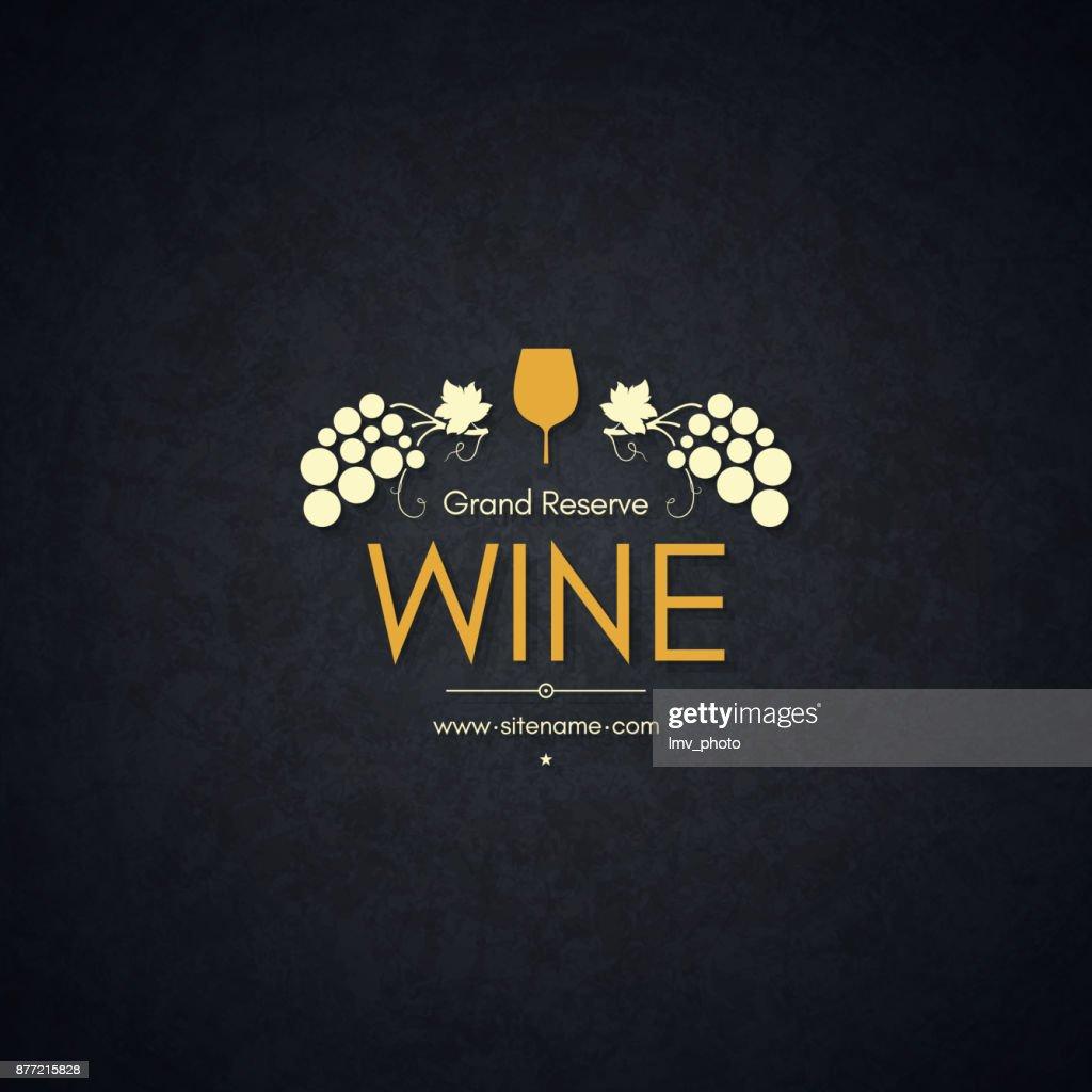 Vintage logotype for winery, vineyard, wine shop, wine list