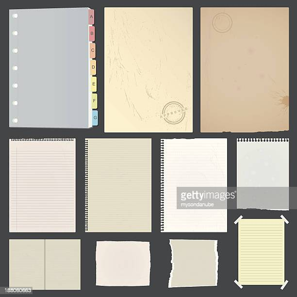 vintage look distressed papers collection