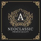 Vintage Luxury Frame Label