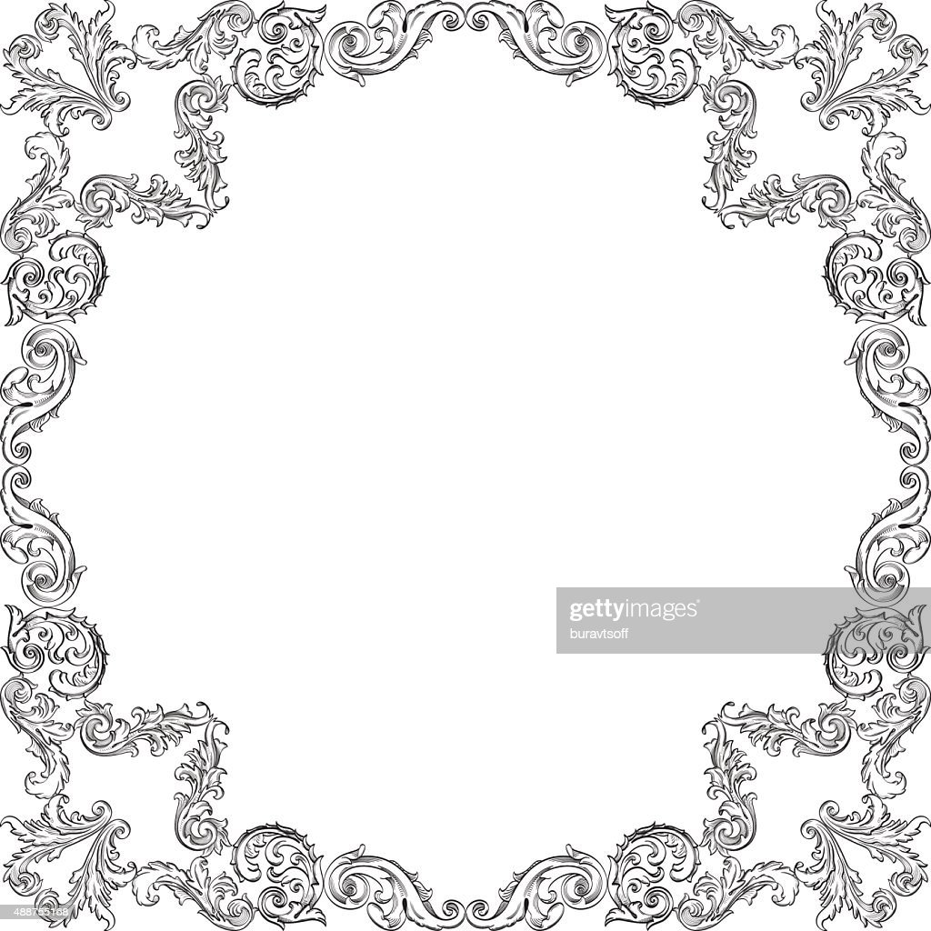 Vintage luxury ornamente frame