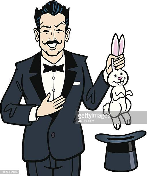 Vintage Magician With Rabbit