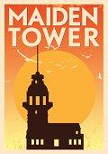Vintage Maiden Tower Poster
