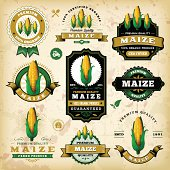 Vintage Maize Labels
