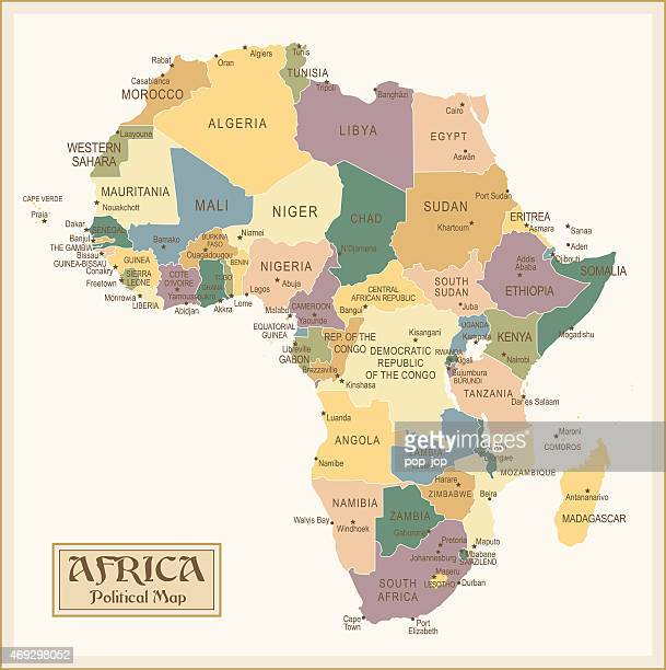 vintage map of africa - mali stock illustrations, clip art, cartoons, & icons