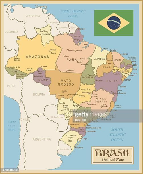 Vintage Map of Brazil