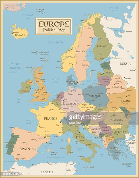 Vintage map of Europe - illustration