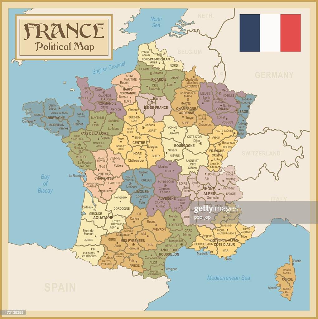 Vintage Map of France