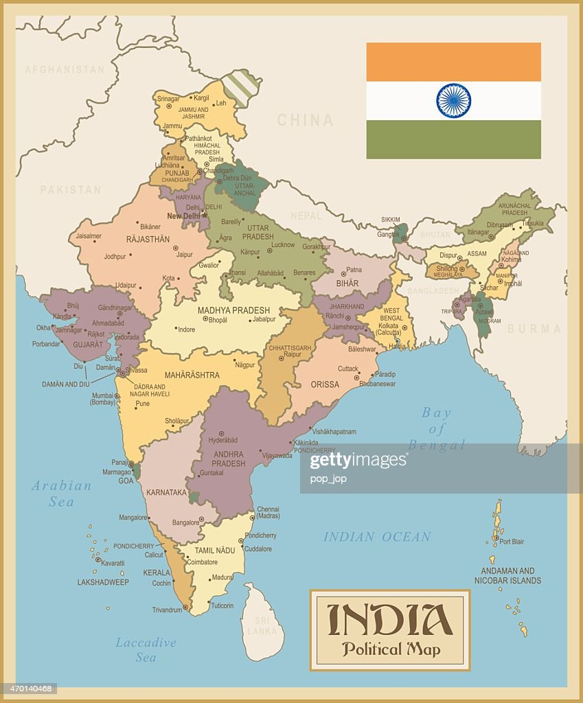 Vintage Map of India
