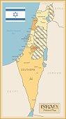 Vintage Map of Israel