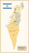 Vintage Map of Israel