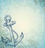 Vintage marine background