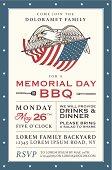 Vintage Memorial Day barbecue invitation
