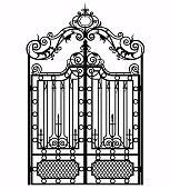 vintage metal gate