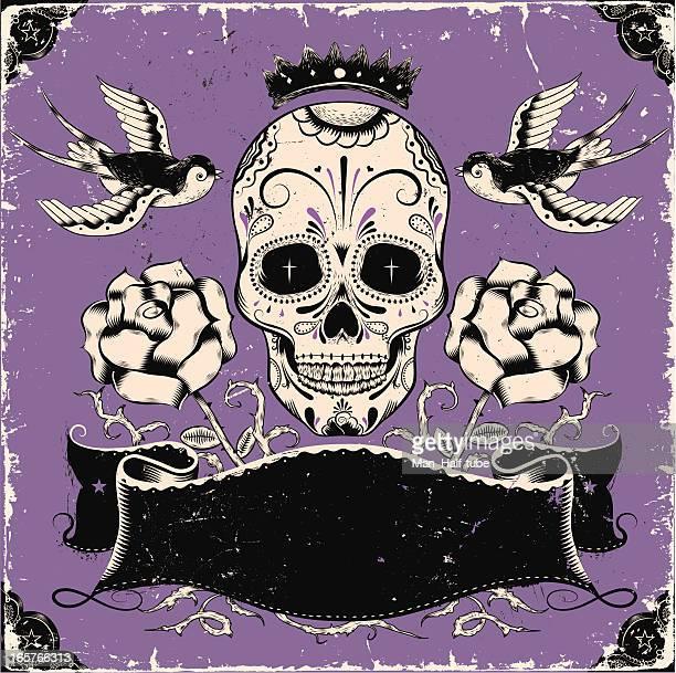 Vintage mexican skull