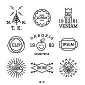 vintage minimal labels