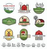 Vintage modern farm logo
