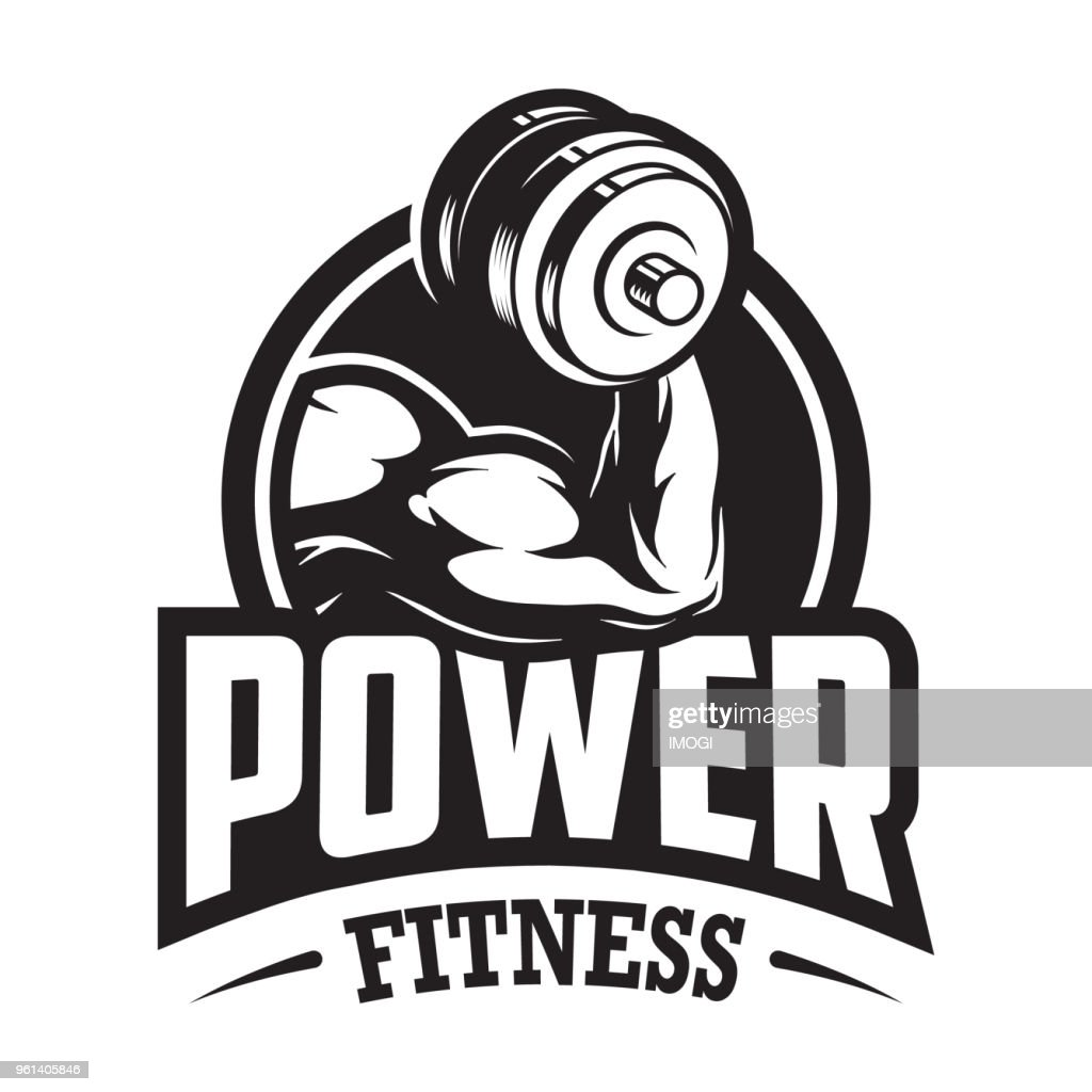 Vintage monochrome sport and fitness logo